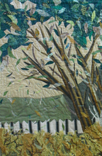 """Under the Shady Tree"" ByAnn Baldwin May, Fiber Art Quilt"