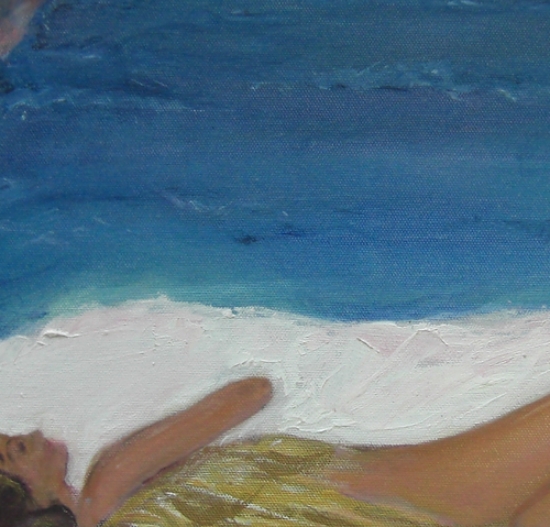 """Angel Sleeping"" By Michela Curtis, Oil on Canvas"