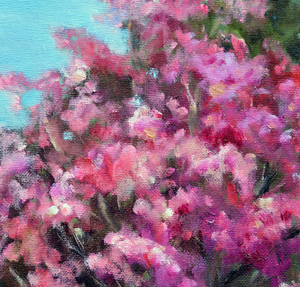 """Spring is Here"" By Lolita Chin, Oil on Canvas Board"