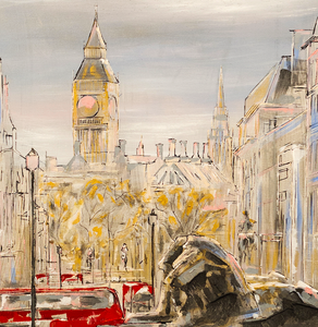 """Trafalgar Square"" By Damien March, on Canvas"