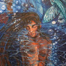 """Under Water "" By Apollo, Acrylic on Canvas"