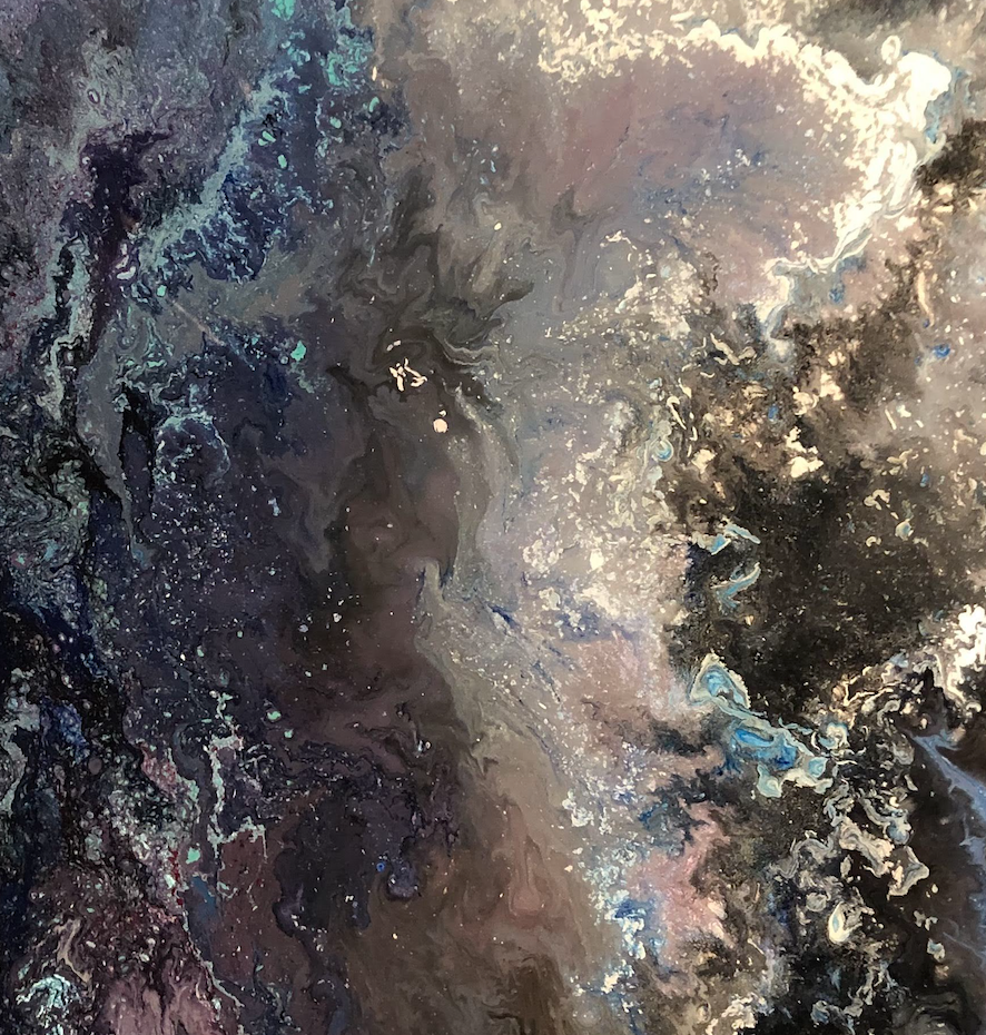 """Beautiful Universe"" By Chris Pavlak, Acrylic and Resin Canvas"