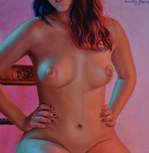 """Nude"" By Liliian Llanosm Oil on Canvas"
