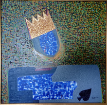 """King Sonny James"" By Bruce B. Jefferson, Mixed Media On Canvas"