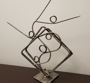 """Stream of Consciousness"" By Maggie Slater, Mild Steel, Clear Coated"