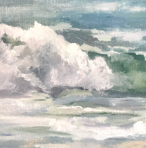 """Rolling Waves"" By Cynthia Lundquist, Oil on Linen"