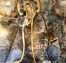 """A Prayer"" By Lucia Apodaca, Mixed Media on Canvas"