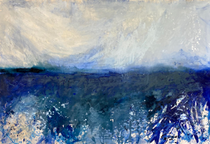 """Deep Blue"" By Kathleen Rhee, Mixed Media on Canvas"