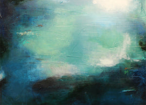 Secrets of the Marianna Trench 2 by Rae Broyles, Mixed Media on Canvas
