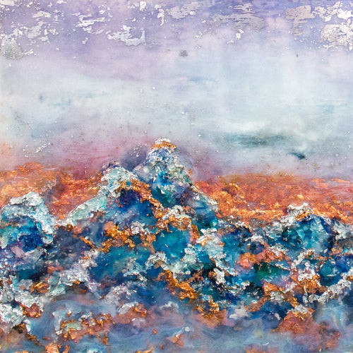 Sierra Nevada, Dream Season by Kathryn Silvera, Mixed Media
