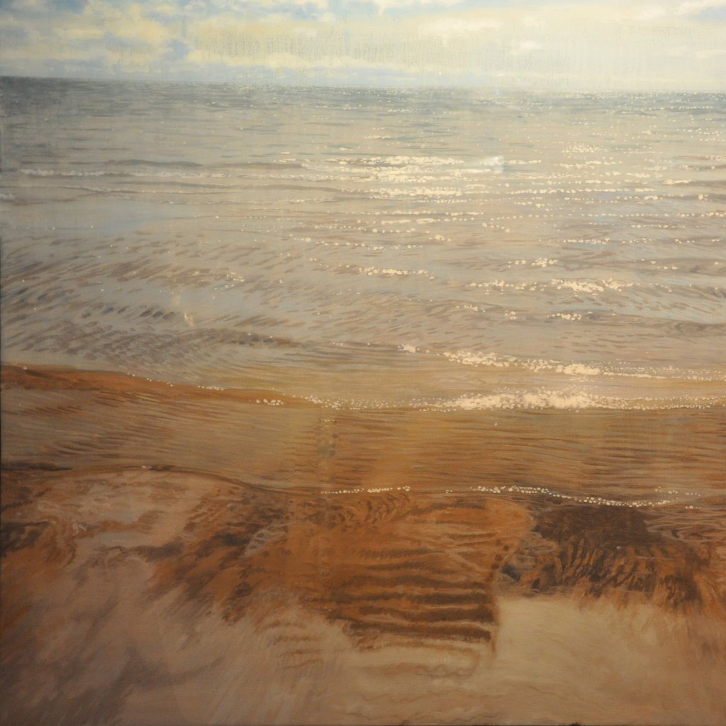 Sparkling Ripples by Joe Sampson, Oil on Canvas Stretched on Wood Panel with Resin