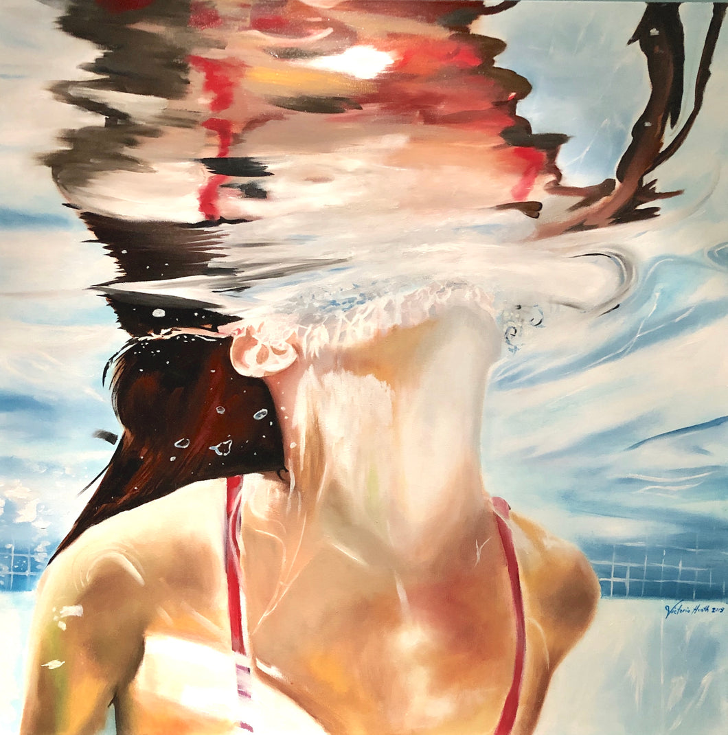 """Surface"" By Victoria Heath, Oil On Canvas"