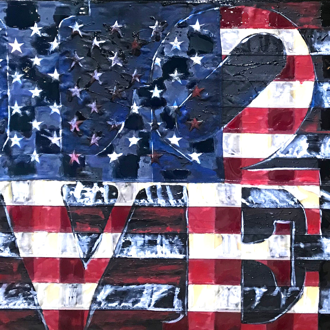 Mending America by Jacek Lazuka, Mixed Media