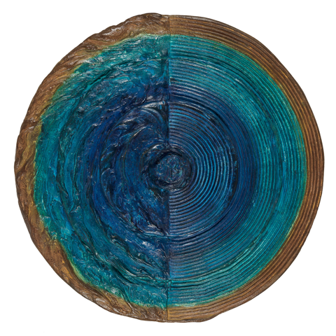 """Intention Wheel Patina"" By Laura Anderson, Liquid Metal & Patina"