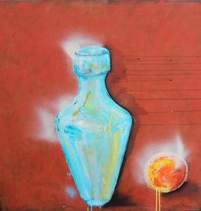 Urn by Veronika Yngwe, Mixed Media on Canvas