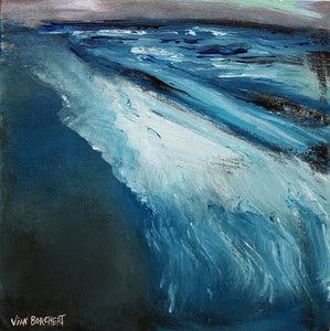 Nighttime Beach by Vian Borchert, Acrylic on Canvas