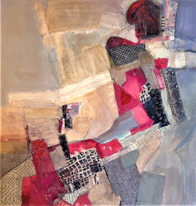 """Red Sangria"" By Lorrie Lewis, Mixed Media"
