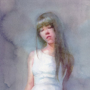 White Dress by Matsubayashi, Watercolor