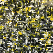 "'Yellow Traffic"" By Olga Chajmova, Acrylic and Varnish on Canvas"