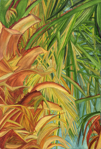 """Caliente Palm"" By Sylvia Herrera, On Arches Watercolor Paper"