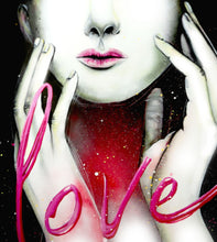 """Love""  by Josianne Fiset, Acrylic on Canvas"