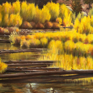 """Logjam"" by Terry Houseworth, Oil on Canvas"