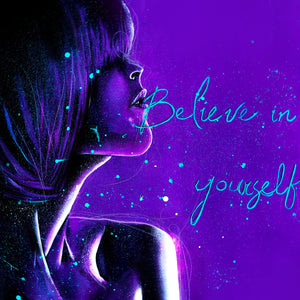 """Believe in Yourself"" by Josianne Fiset, Acrylic on Canvas"