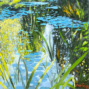 """Monet's Lily Pond Giverny"" by Christopher Pecharka, Oil on Canvas"