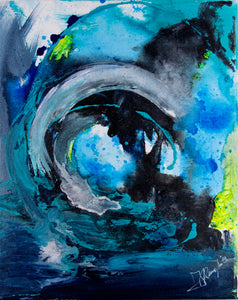 """Wave"" By Amanda Remmington, Acrylic on Canvas"