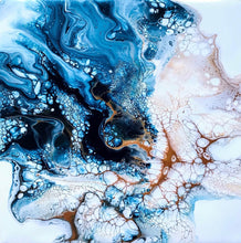 """Fluid No. 1 "" By Cathrine Jonsson, Acrylic on Canvas"