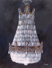 Antique Chandelier by Cheri Miller, Acrylic on Canvas