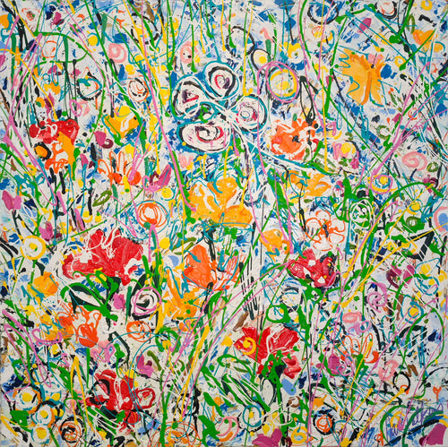 My Favourite Flowers, by Dave Calkins, Acrylic on Canvas