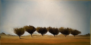 "Gold Stem - 48""X24"" - Oils on Canvas - Original Townley painting"