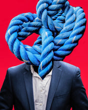 Blue Knotted Head by Glen Ellis, Digital Art on Canvas