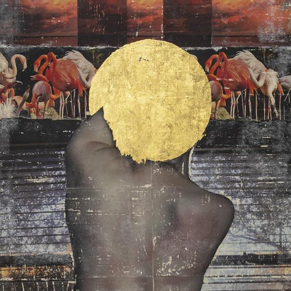 Star. Evening. Im Not Going to Fall Again, by Anna and Valeriia Lyshchenko, Collage on Linen Canvas