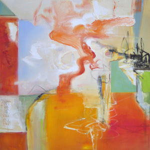 333 Vesuvius Rising by Anne B Schwartz, Oil on Canvas
