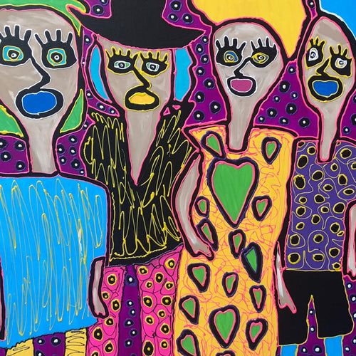 Girls Night Out by Tavi, Acrylic on Canvas