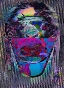 """Thumbprint"" By Jennifer L. Gray, Phillip Johnson, Digital Print With Mixed Media"