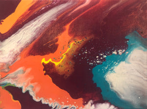 Volcanic Overflow by Whitney Creswell, Acrylic on Canvas
