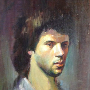 """Young and Handsome"" by Roman Berger, Pastel on Canvas"