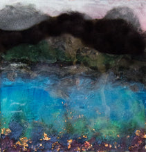 Lake Mountains by Kathryn Silvera, Mixed Media on Canvas