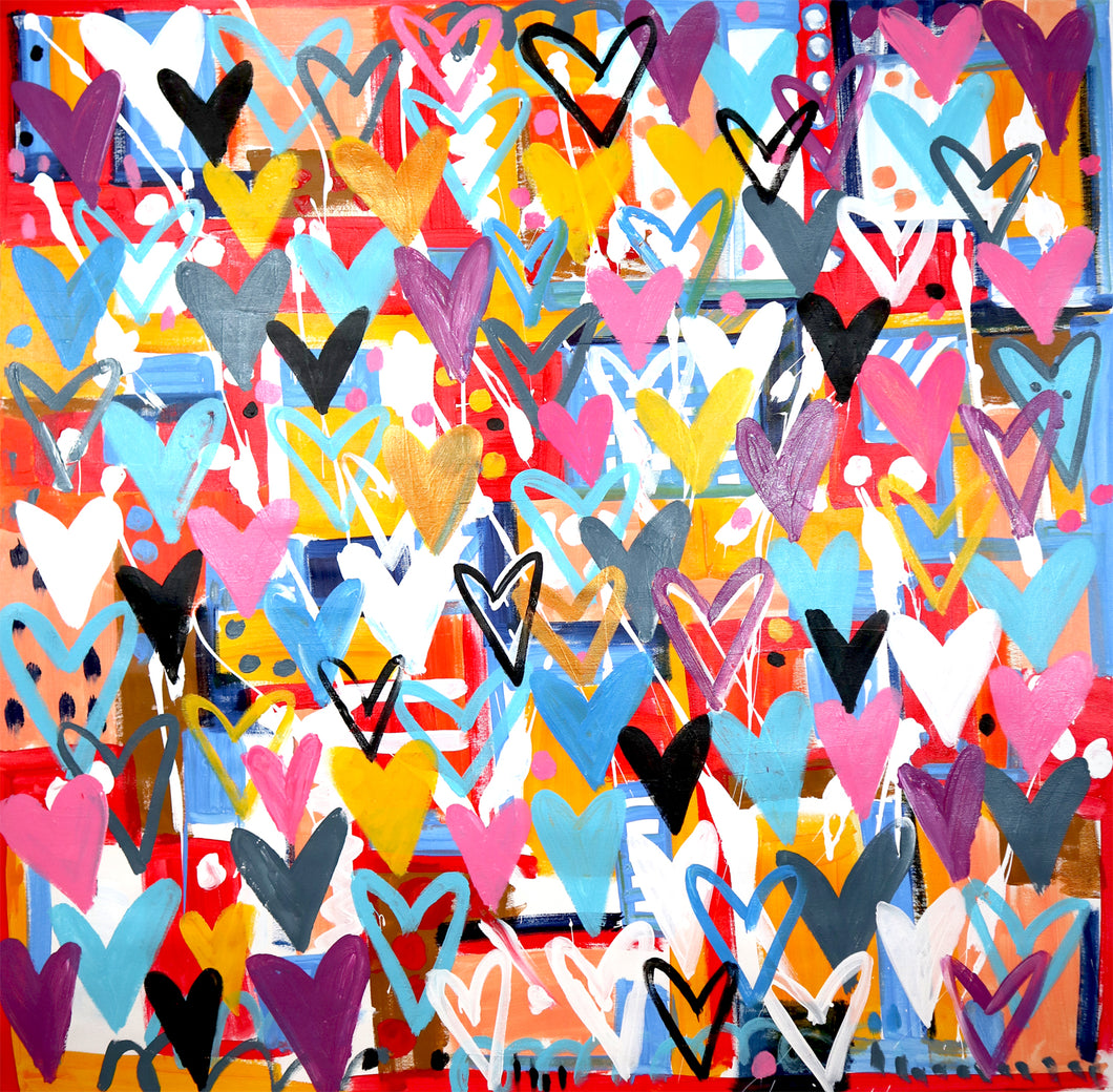 Love and Fun by Mercedes Lagunas, Acrylic on Canvas