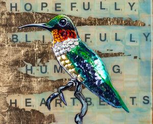 """Blissfully Humming"" By Marie Lavallee, Mixed Media"