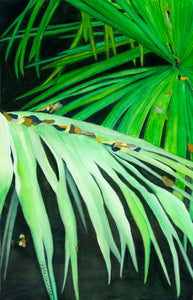 """Palms and Pebbles"" By Sylvia Herrera, On Arches Watercolor Paper"