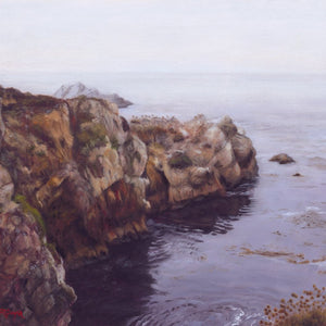 Protected Inlet by Terry Guyer, Oil on Linen (Framed)