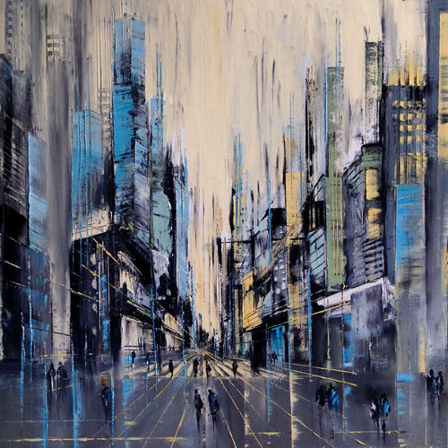Rush Hour by Ivana Milosevic, Oil on Canvas - SOLD