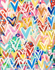 Spring Hearts by Mercedes Lagunas, Acrylic on Canvas