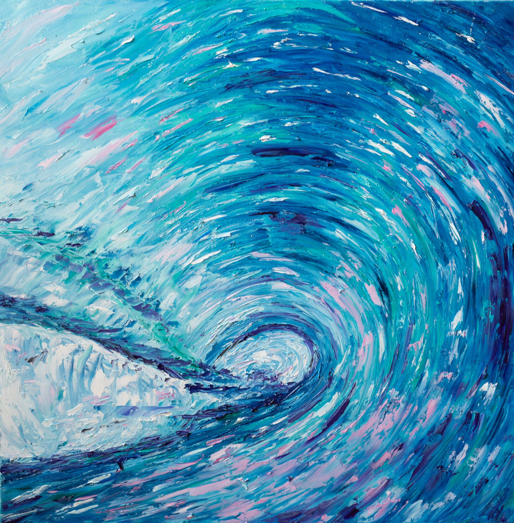 Sunset Wave by Brianna D'Amato, Oil on Canvas