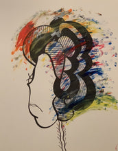 """She's a Rainbow"" By Jay Michael Balmes, Acrylic and Ink on Bristol Board"
