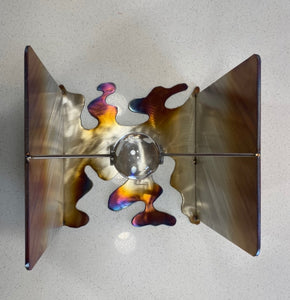"""Time/Space"" by Tom Watson, Stainless Steel, Glass"